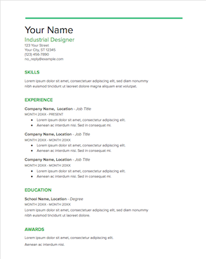 The People Who Created These Resume Templates For Google Docs All Got Their Resumes Through Hiring Process There