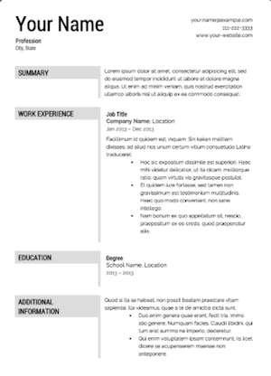The 17 best resume templates fairygodboss the download options for your resume include microsoft word adobe pdf and html for those of you planning to put your resume online maxwellsz