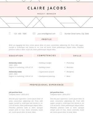 resume template without work experience