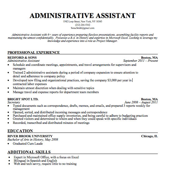 Here\'s How to Create a Standout Administrative Assistant Resume ...