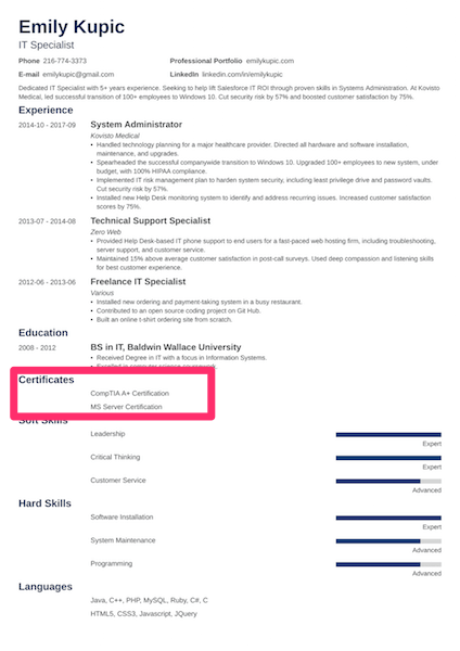 how to list certifications on a resume with 21 examples
