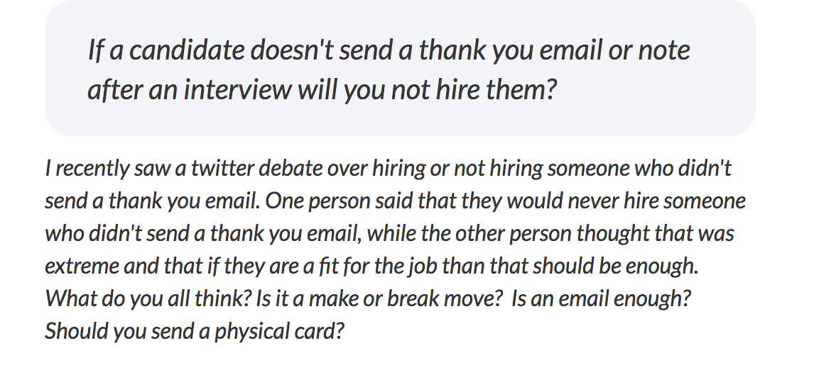 thank you email after interview