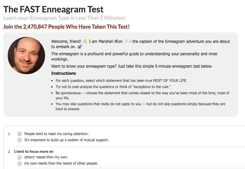 eclectic energies enneagram test