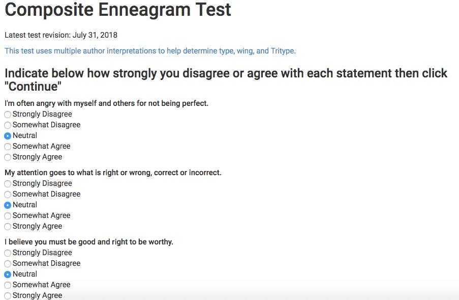 take enneagram test