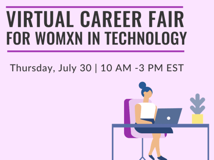 Virtual Career Fair for Womxn in Tech July 2020