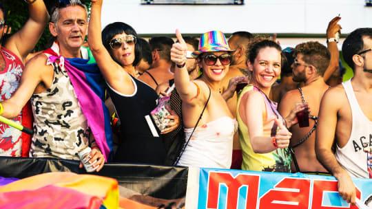 people at a gay pride parade