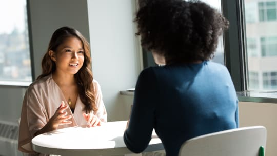 business women chatting