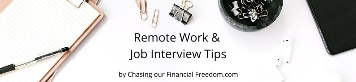 Remote Work & Job Interview Tips header image
