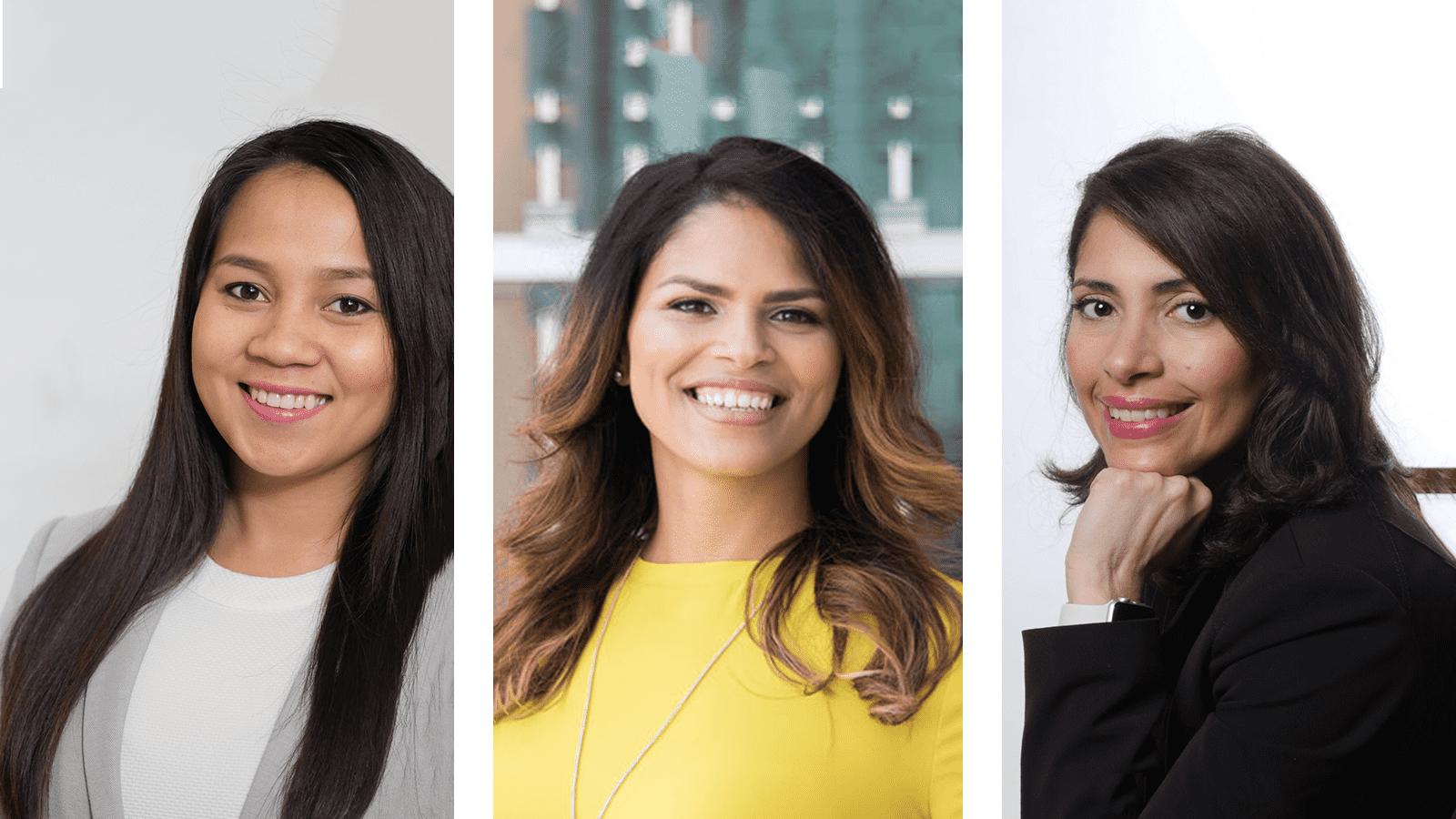 Rosie Chong-Gum, Yubetsy Nieves and Johanna Vazquez