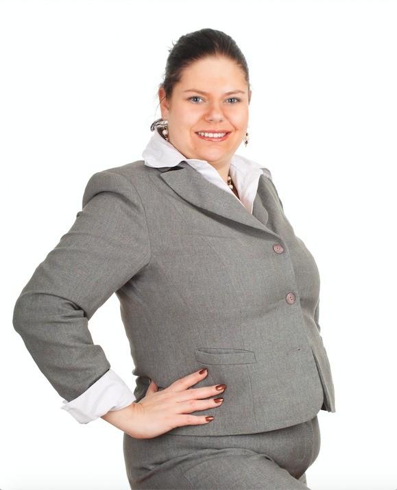 Plus-sized woman