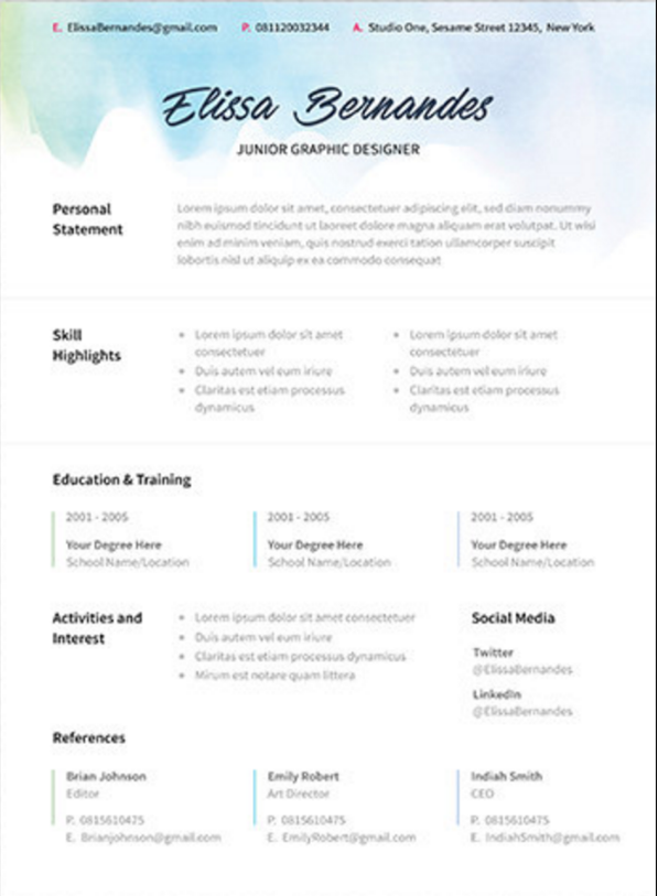 The 17 best resume templates fairygodboss etsy resume template thecheapjerseys Gallery