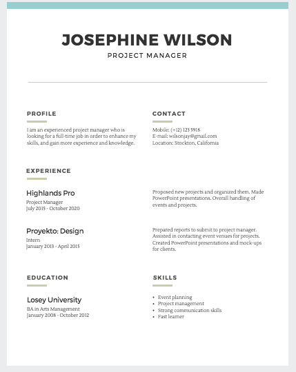 Simple Resume Templates Fairygodboss