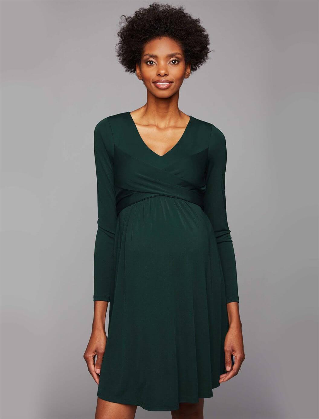 357cf62cd02e9 Long Sleeve Maternity Dress Etsy
