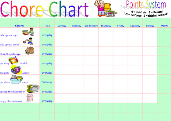 13 Chore Chart Templates That Actually Work Fairygodboss