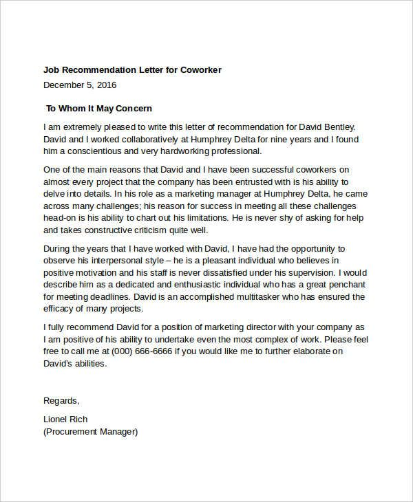 Brief Letter Of Recommendation from d207ibygpg2z1x.cloudfront.net