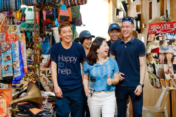 Salesforce employees on the streets in Singapore