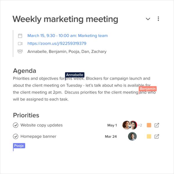 collaborate in meetings